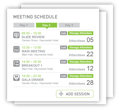 qmeeto_3_day_meeting_schedule_screen